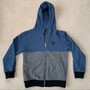 VOLCOM Zip Up Hooded Sweatshirt - Boys Size 6